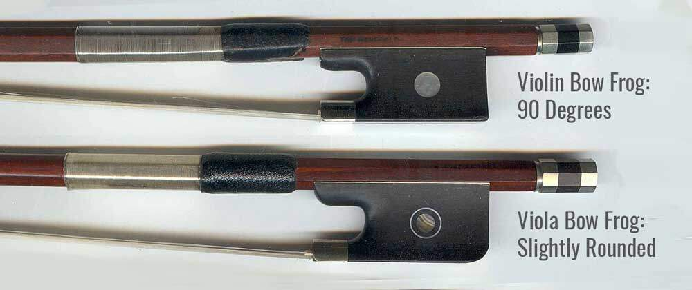 Viola and Violin bow difference